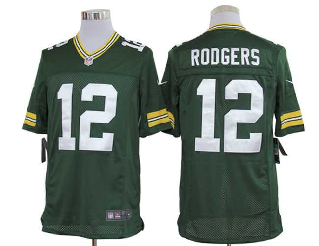 2012 Nike NFL Jersey Green Bay Packers #12 Aaron Rodgers Green Jersey(Elite)