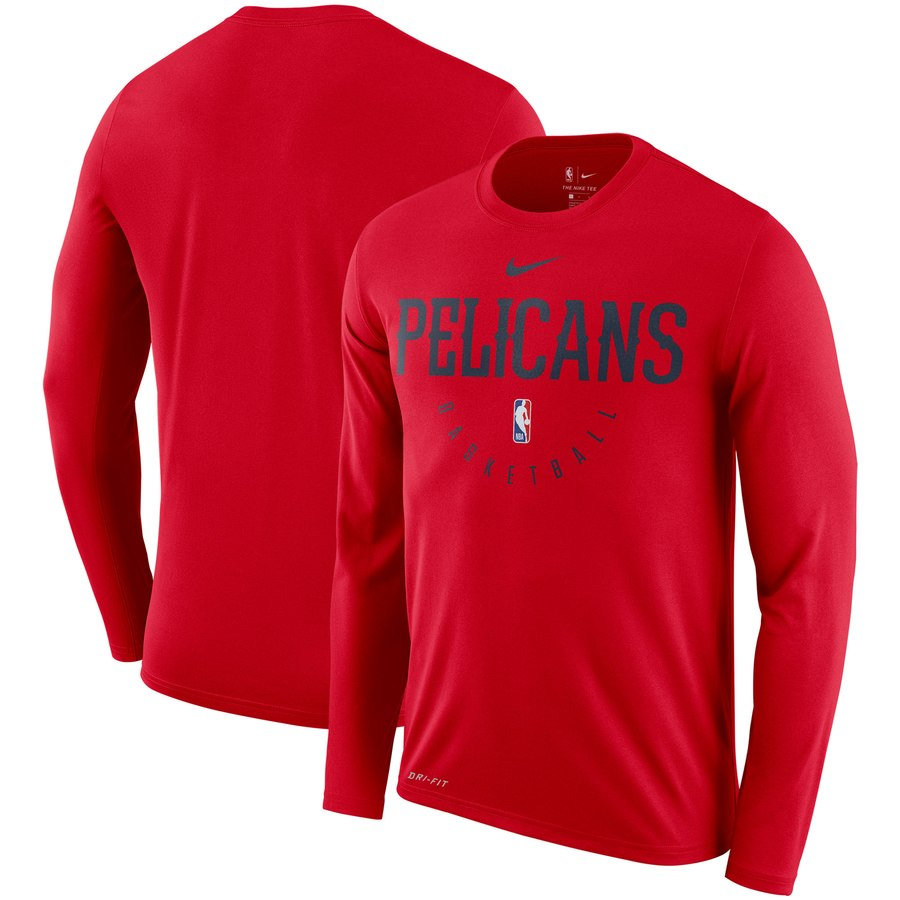 Men's New Orleans Pelicans Nike Practice Performance Legend Long Sleeve T-Shirt Red