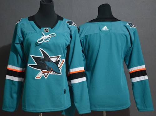 Youth Adidas San Jose Sharks Customzied Teal Home Authentic Stitched NHL Jersey