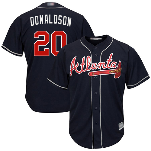 Youth Atlanta Braves #20 Josh Donaldson Navy Blue Cool Base Stitched Baseball Jersey