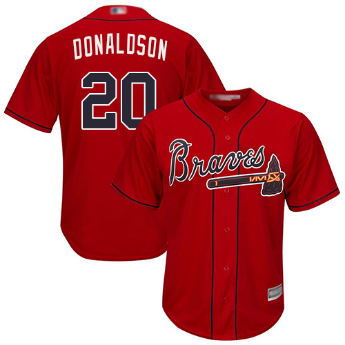 Youth Atlanta Braves #20 Josh Donaldson Red Cool Base Stitched Baseball Jersey