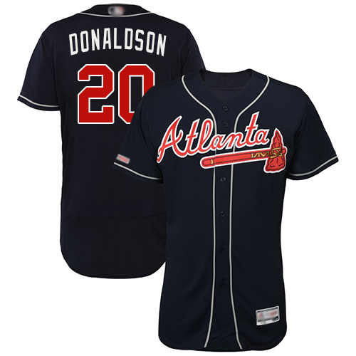Men's Atlanta Braves #20 Josh Donaldson Navy Blue Flexbase Authentic Collection Stitched Baseball Jersey