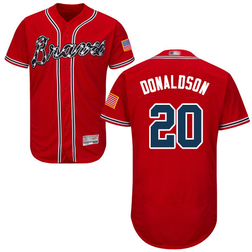 Men's Atlanta Braves #20 Josh Donaldson Red Flexbase Authentic Collection Stitched Baseball Jersey
