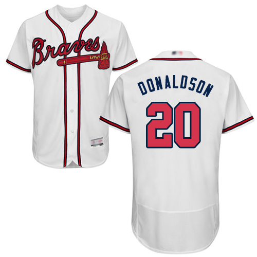 Men's Atlanta Braves #20 Josh Donaldson White Flexbase Authentic Collection Stitched Baseball Jersey