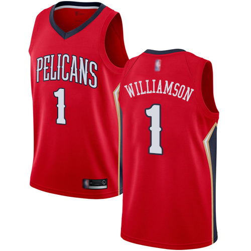 Women's Nike New Orleans Pelicans #1 Zion Williamson Red NBA Swingman Statement Edition Jersey