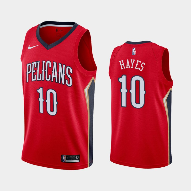 Men's Nike New Orleans Pelicans #10 Jaxson Hayes Red NBA Swingman Statement Edition Jersey