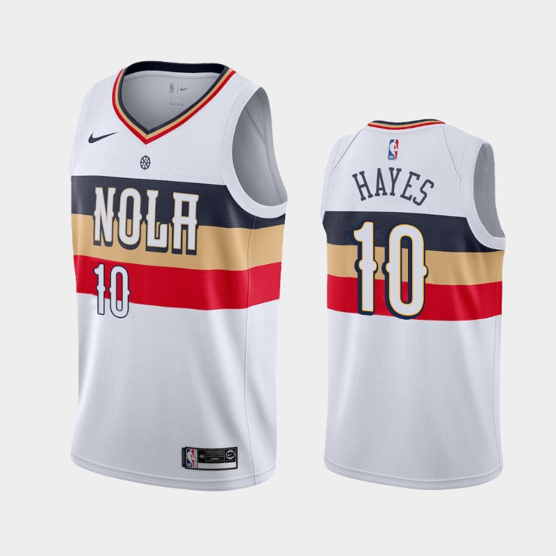 Men's Nike New Orleans Pelicans #10 Jaxson Hayes White NBA Swingman Earned Edition Jersey