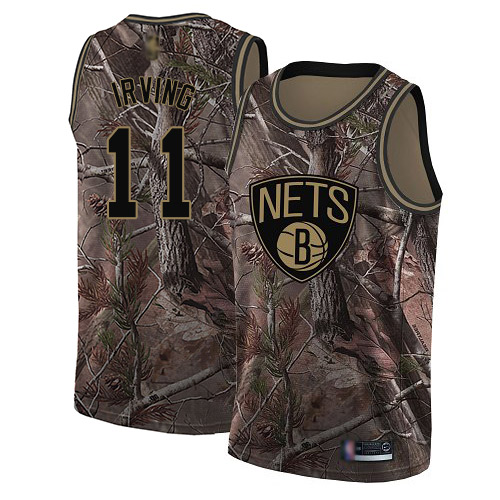 Women's Nike Brooklyn Nets #11 Kyrie Irving Camo NBA Swingman Realtree Collection Jersey