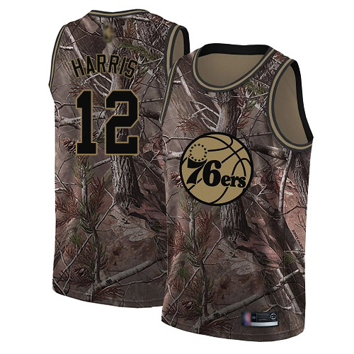 Women's Nike Philadelphia 76ers #12 Tobias Harris Camo NBA Swingman Realtree Collection Jersey