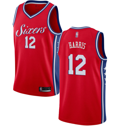 Women's Nike Philadelphia 76ers #12 Tobias Harris Red NBA Swingman Statement Edition Jersey