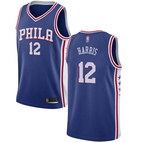 Youth Nike Philadelphia 76ers #12 Tobias Harris Blue NBA Swingman Icon Edition Jersey