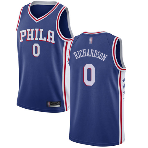 Men's Nike Philadelphia 76ers #0 Josh Richardson Blue NBA Swingman Icon Edition Jersey