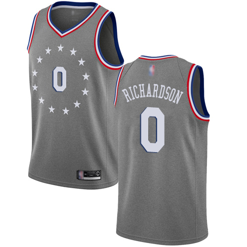 Men's Nike Philadelphia 76ers #0 Josh Richardson Gray NBA Swingman City Edition 2018-19 Jersey