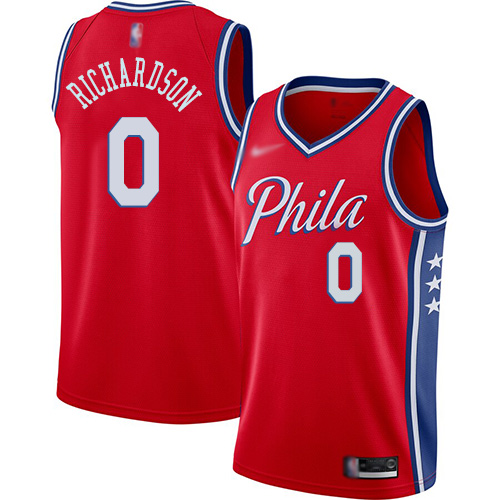 Men's Nike Philadelphia 76ers #0 Josh Richardson Red NBA Swingman Statement Edition 2019-2020 Jersey