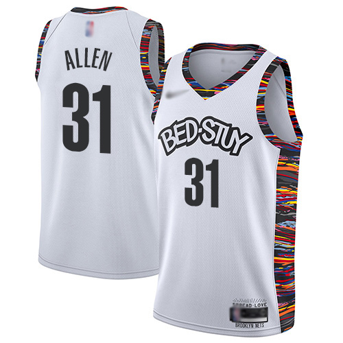 Men's Nike Brooklyn Nets #31 Jarrett Allen White Basketball Swingman City Edition 2019 20 Jersey