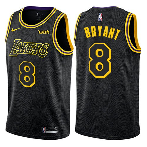 Men's Los Angeles Lakers #8 Kobe Bryant Authentic Black City Edition Jersey