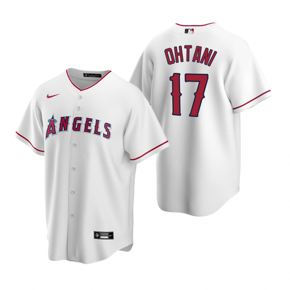 Men's Nike Los Angeles Angels #17 Shohei Ohtani White Home Stitched Baseball Jersey