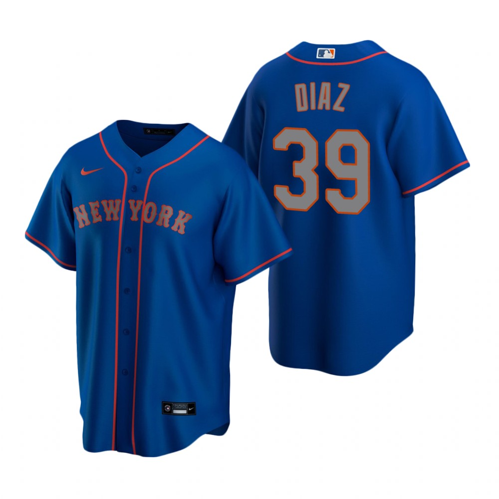 Men's Nike New York Mets #39 Edwin Diaz Royal Alternate Road Stitched Baseball Jersey