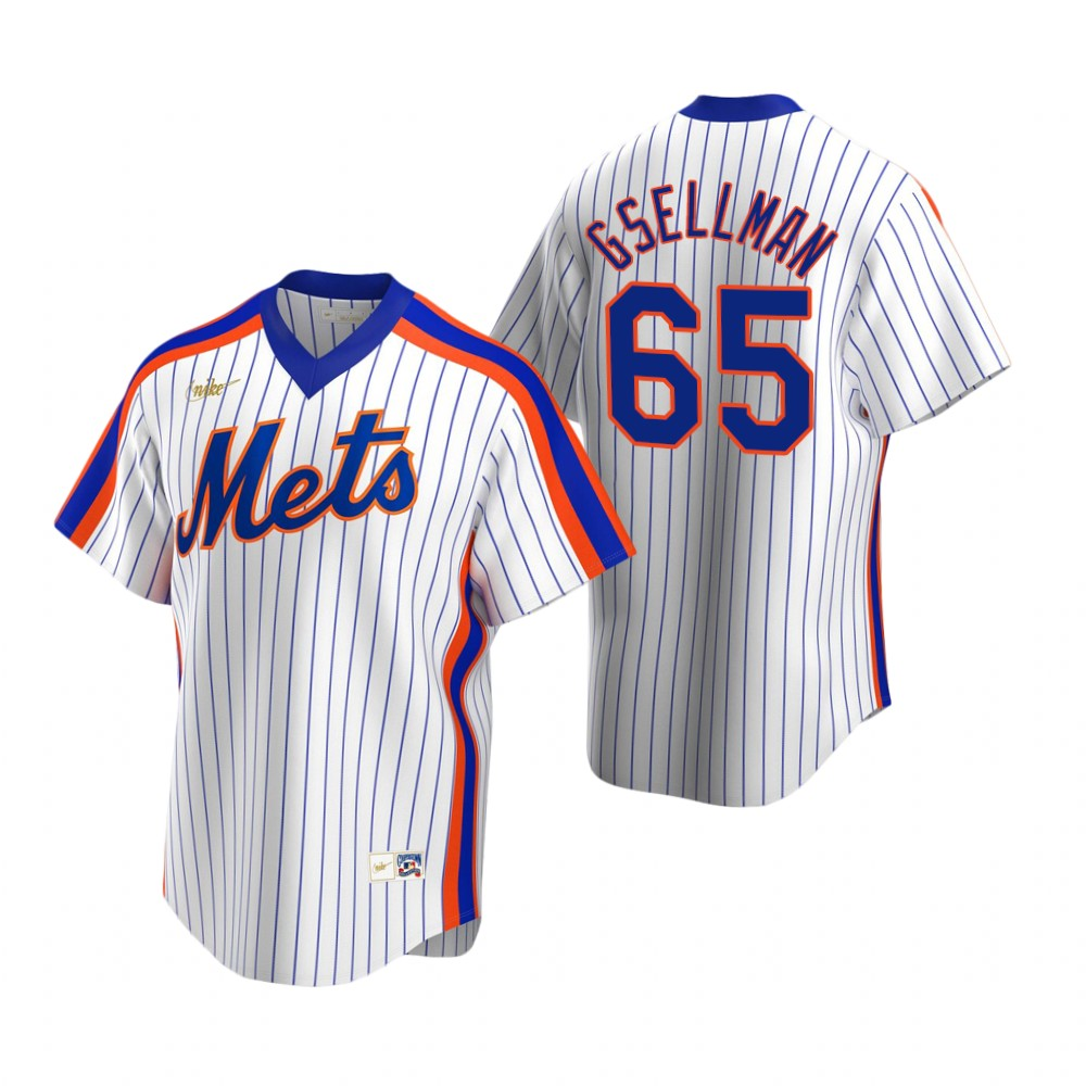 Men's Nike New York Mets #65 Robert Gsellman White Cooperstown Collection Home Stitched Baseball Jersey