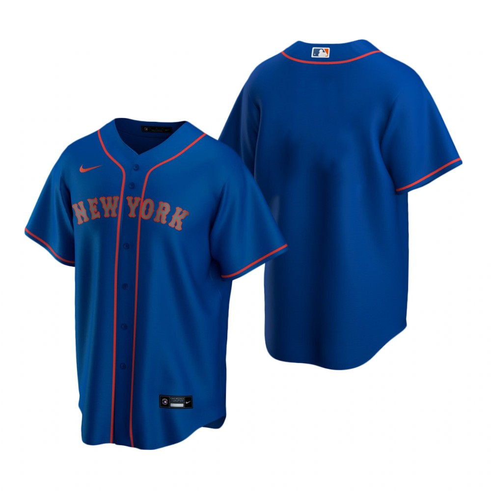 Men's Nike New York Mets Blank Royal Alternate Road Stitched Baseball Jersey