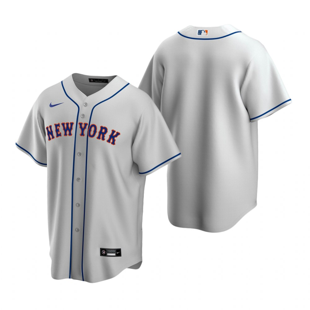 Men's Nike New York Mets Blank Gray Road Stitched Baseball Jersey