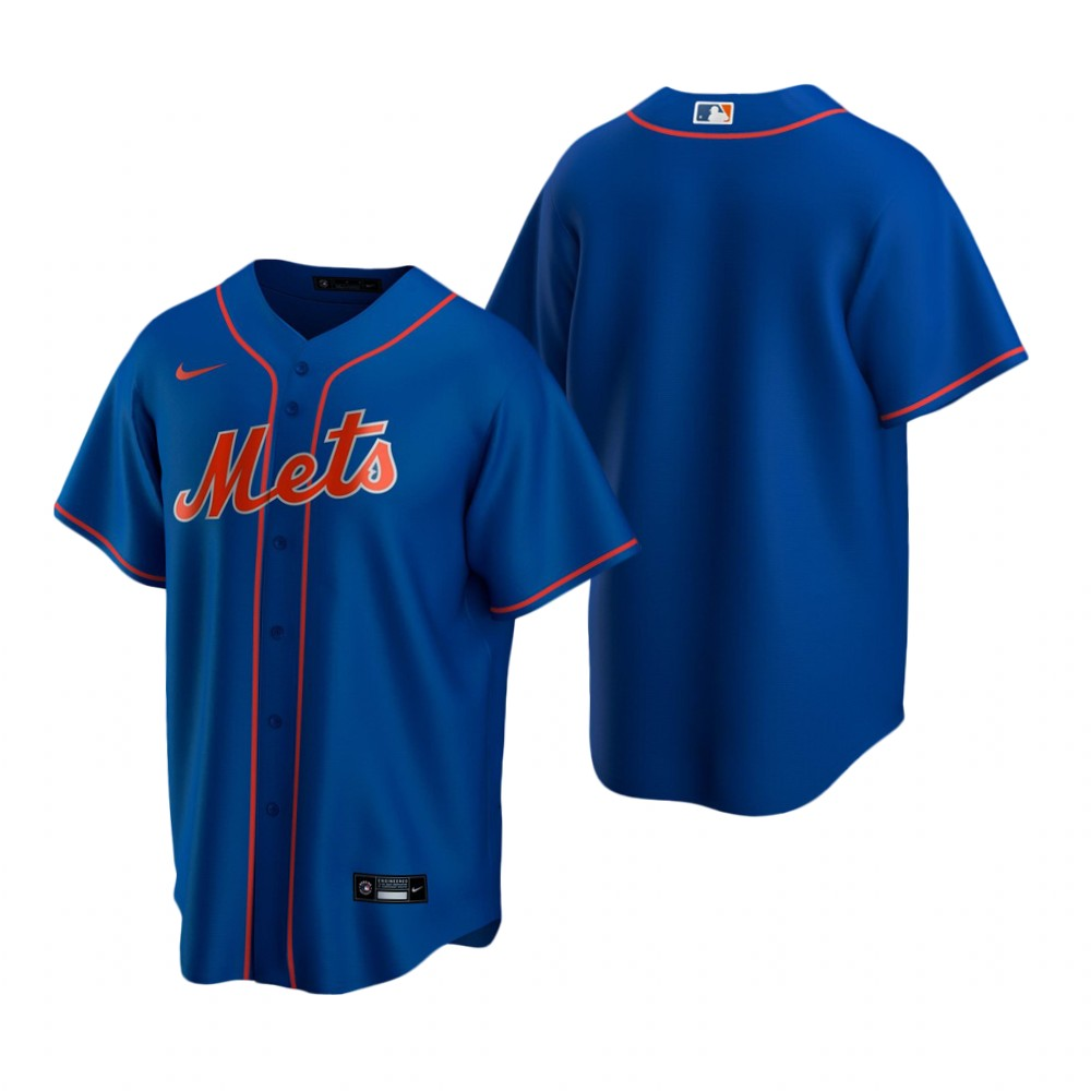 Men's Nike New York Mets Blank Royal Alternate Stitched Baseball Jersey