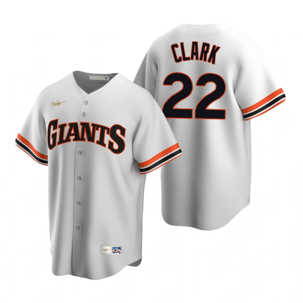 Men's Nike San Francisco Giants #22 Will Clark White Cooperstown Collection Home Stitched Baseball Jersey