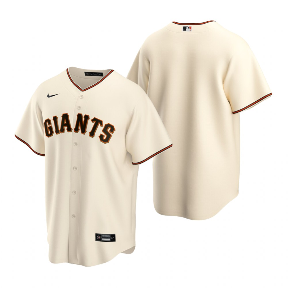 Men's Nike San Francisco Giants Blank Cream Home Stitched Baseball Jersey