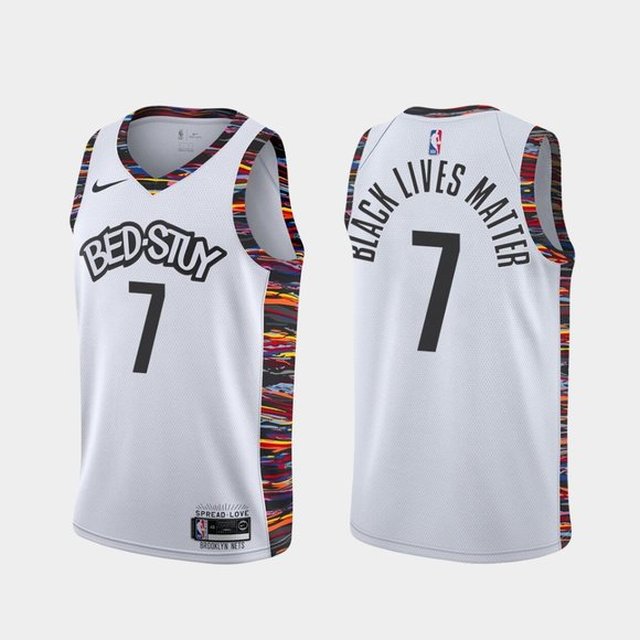 Brooklyn Nets #7 Kevin Durant BLM 2020 Jersey City