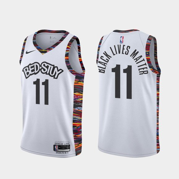 Brooklyn Nets #11 Kyrie Irving BLM 2020 Jersey City
