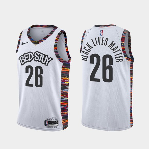 Brooklyn Nets #26 Spencer Dinwiddie BLM 2020 Jersey City