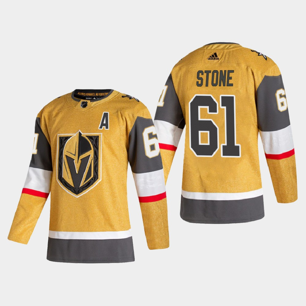 Men's Vegas Golden Knights #61 Mark Stone Adidas 2020-21 Authentic Player Alternate Stitched NHL Jersey Gold