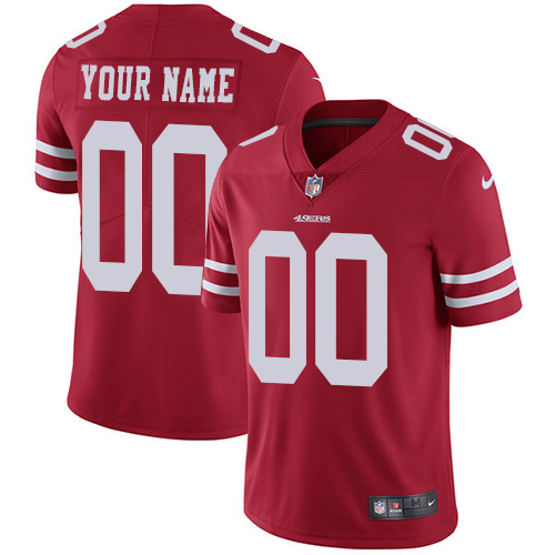Men's Nike San Francisco 49ers Customized Red Stitched Vapor Untouchable Limited NFL Jersey