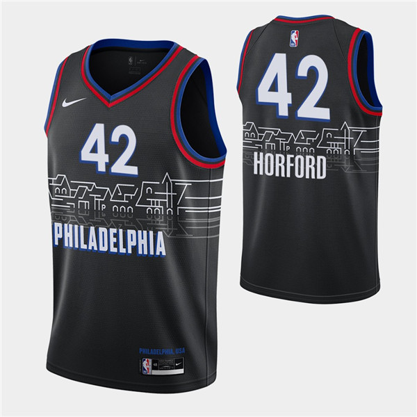 Men's Philadelphia 76ers #42 Al Horford Black City Swingman 2020-21 Basketball Jersey