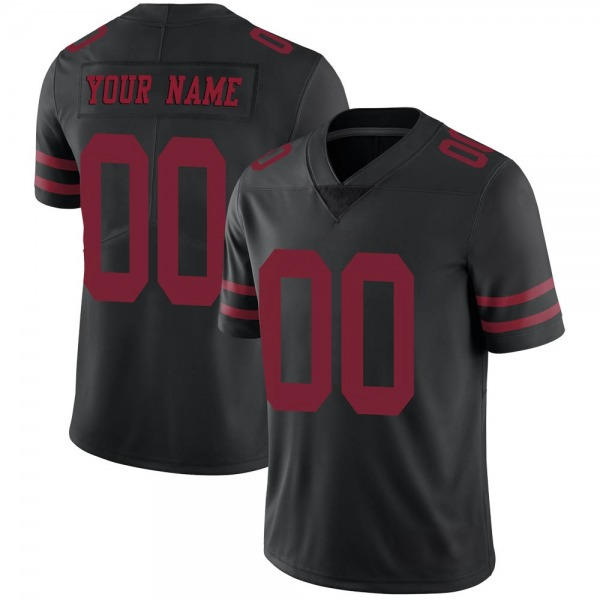 Nike San Francisco 49ers Black Alternate Men's Stitched NFL Vapor Untouchable Limited Customized Jersey